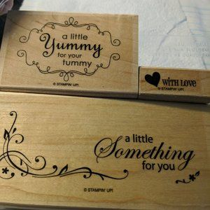 STAMPIN' UP! Yummy Wood Stamp 3 Piece Crafts Cards